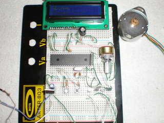 PIC16F877 Stepper Motor Driver Circuit CCS C ccs stepmotor