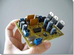 PIC16F877P LCD Göstergeli ayarlı dijital güç kaynağı