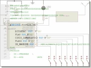 PIC16F628 rf kodlayıcı kod çözücü tasarımı