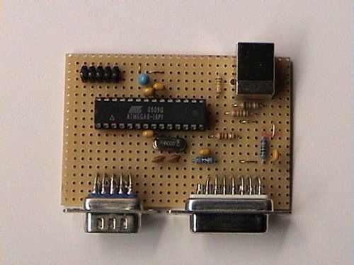 USB Joystick Converter for Atari,  Amiga, Commodore 64 usb cevirici devre