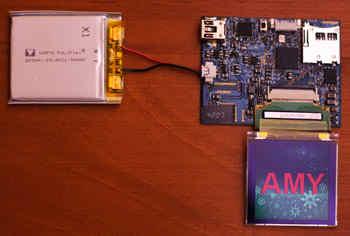 Electronic Mini-Badge PIC24FJ64GA004 oled lcd arm rf