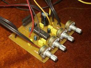 TDA1554Q Car Amplifier Circuit  LM1036  Tone Controlled tda1554q lm1036 ton kontrollu anfi devresi