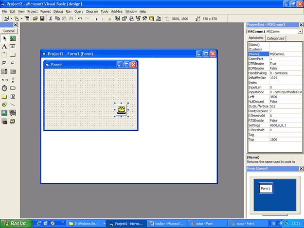 Visual Basic api modul vb6 seri port