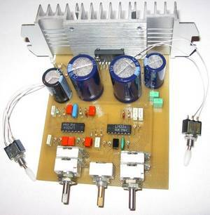 TDA1562Q car subwoofer amplifier and active filter circuit.