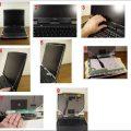 Toshiba notebook tamir için sökme toplama işlemleri