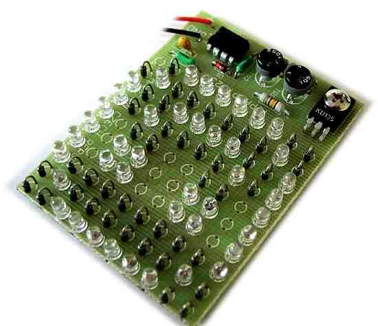 10x10 LED Blinking 555 Flip Flop Circuit 100 led flip flop flasor