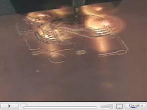 CNC Baskı Devre Çizme Makinası Görüntüleri Video