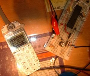 Hi Tech C  LCD Examples  PIC18F452, PIC16F877 LCD SPI Nokia 3310 PIC 18F452