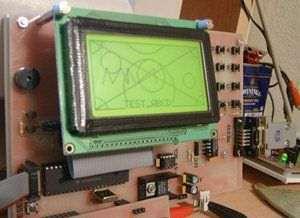 Hi Tech C  LCD Examples  PIC18F452, PIC16F877 LCD ekran OGM64GS12D 128x64 PIC 18F452
