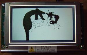 Hi Tech C  LCD Examples  PIC18F452, PIC16F877 T6963C LCD240x128 1