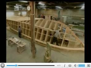 Lớp phủ sợi thủy tinh của thuyền video