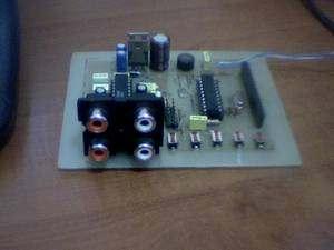 Digital Tone Control Circuit Atmel ATTINY2313  LM1036 LM1036 Attiny2313 ton kontrol 2