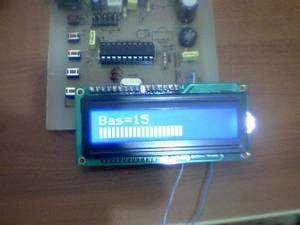 Digital Tone Control Circuit Atmel ATTINY2313  LM1036 bass Attiny2313 ton kontrol 5 lcd