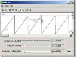 ADC0820 ile basit lpt paralel port osiloskop devresi