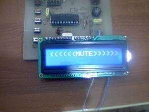 Digital Tone Control Circuit Atmel ATTINY2313  LM1036 mute Attiny2313 ton kontrol 7 lcd