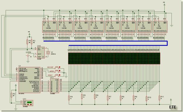 pic16f876-matrix-saat