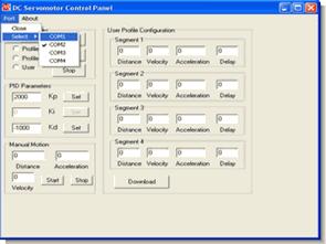 PIC18  PIC16 serisi ile pc dc servo motor kontrol