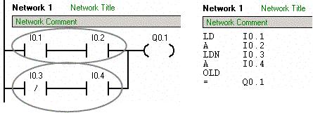 plc paralel blok birlestirme