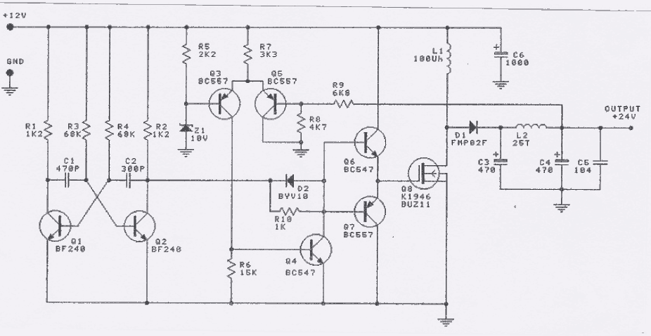 12v To 24v Dc Dc Converter Circuit Electronics Projects