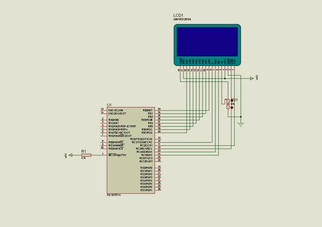 Proton ide Graphic LCD Example proton glcd uygulama 1