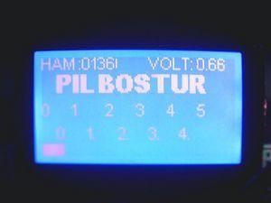 PIC16F877 Battery Volt Meter ADC Proton ide Example glcd devre pil olcumu pil bos