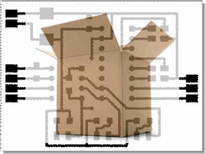 Baskı devre pcb için ilginç bir yöntem karton pcb