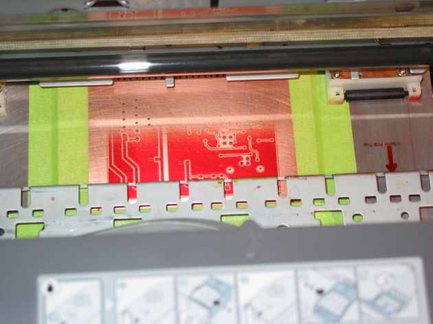 PCB Printing with Epson CX4200 inkjet Printer Modified