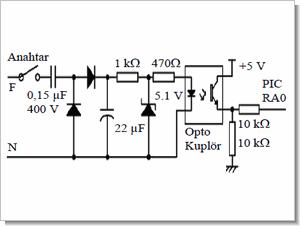 Mikrodenetleyici giriş çıkış devreleri izole, kontrol