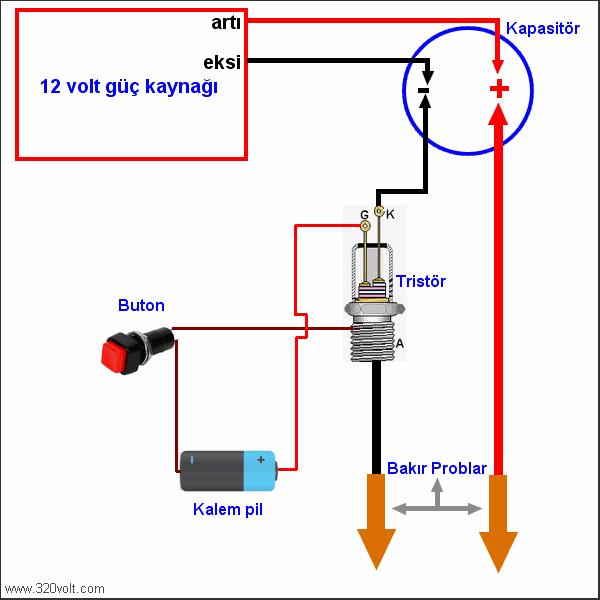 Simple Battery Tig Welding Projects pil punta devresi