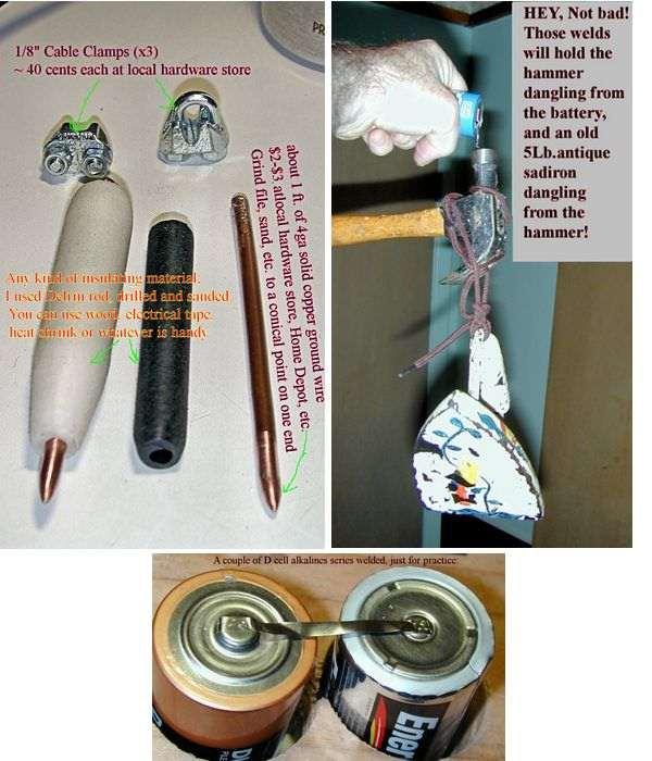 Simple Battery Tig Welding Projects pil puntalama devresi punta