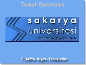 Diyot ve Transistör