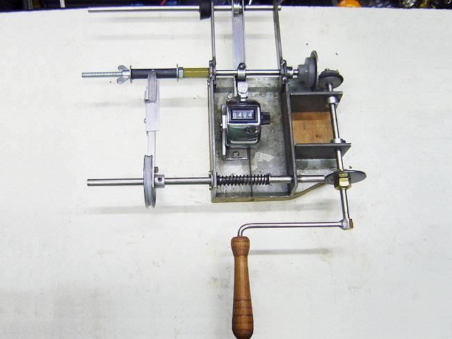 Handmade Coil Transformer Winding Machine el yapimi trafo sarma makinasi cikrik mekanik