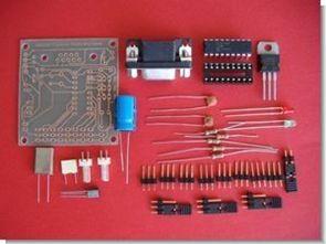 Bilgisayar ile 8 servo motor kontrolü pic16f84 rs232