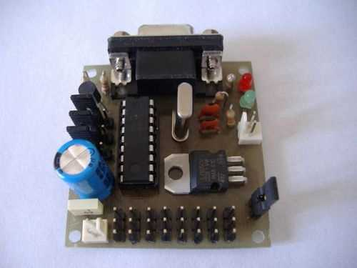PC Servo Motor Control with PIC16F84 RS232 pic16f84 servo motor surucu visual basic
