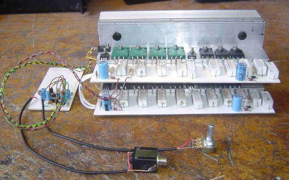 500W Amplifier Circuit power supp relay besleme devresi cap