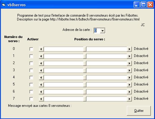 PC Servo Motor Control with PIC16F84 RS232 servo motor kontrol programi vb