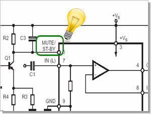 Mute stantby özelliği olan anfi entegreleri  (ip ucu)