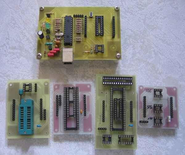 All in One Programmer Circuit PIC18F2550 usb programlayici aparatlar pcb baski devre