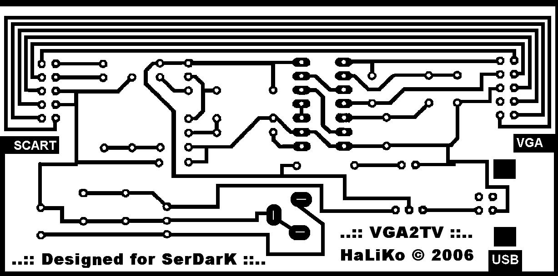 circuit rotation of vga2tv pcb 10 38x5 68 cm 145x145 usb powered tv vga  to scart