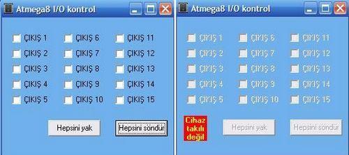 Atmel Atmega8 via USB Control Circuit atmel atmega8 usb kontrol led role delphi