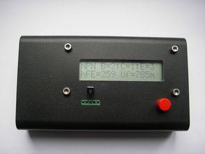 ATmega8 lcd göstergeli transistör test cihazı
