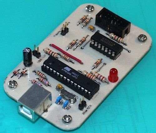 Atmel AVR Programmer USB Circuit  Atmega8 atmel usb isp programlayici avr programmer