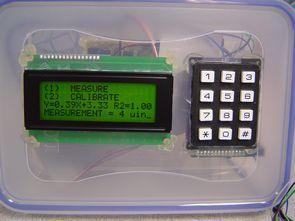 dsPIC30F301 laser light backscatter lcd keypad input