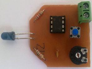 İnfrared kızıl ötesi alıcı-verici projesi ne555 cd4017