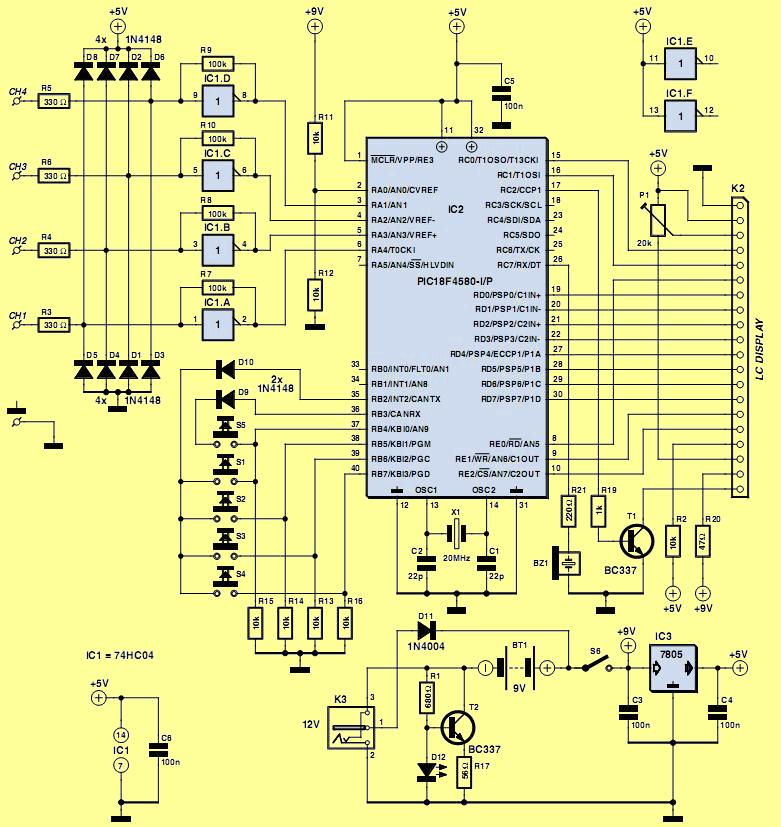 lojik-analizor-devre-semasi-pic18f4580