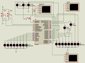PIC18F452 Seri RS232 port bağlantılı kontrol kartı
