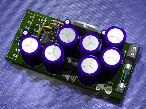 70W Subwoofer Amplifier Circuit TDA1562Q Bass PCB tda1562 eagle pcb 3d