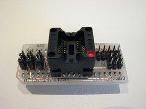 Test, programlama kartları için ATtiny 24-44-84 adaptör