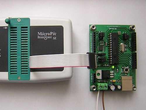 PIC18F2550 Development Board Circut USB Bootloader PCB ICSP baglanti