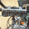Beyaz ledler ile dinamo beslemeli bisiklet farı